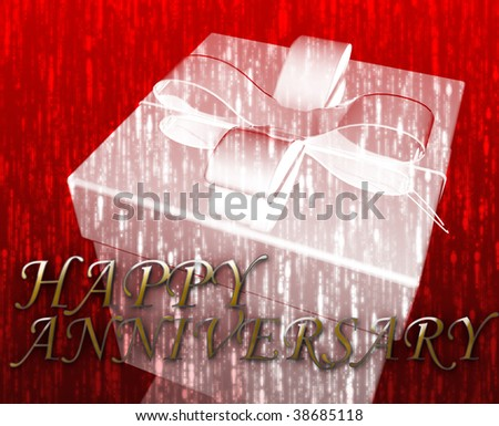 Happy anniversary festive special occasion celebration abstract illustration - stock photo