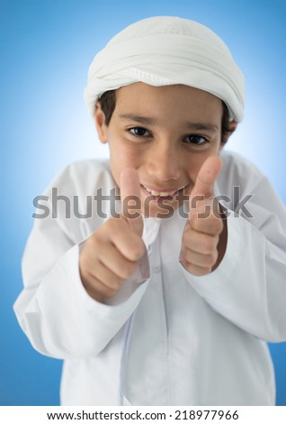Happy Arabic kid posing