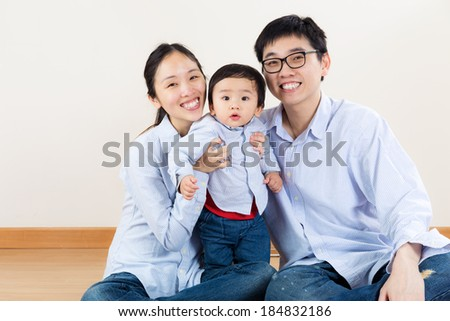 Happy asia family - stock photo