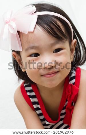 Happy Asian Chinese Children - stock photo