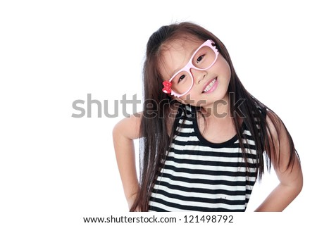 Happy asian little girl