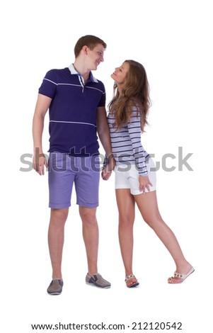 Happy attractive couple - stock photo