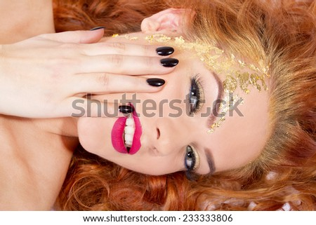 Happy beautiful woman  - stock photo