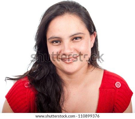 Happy beauty woman smiling portrait