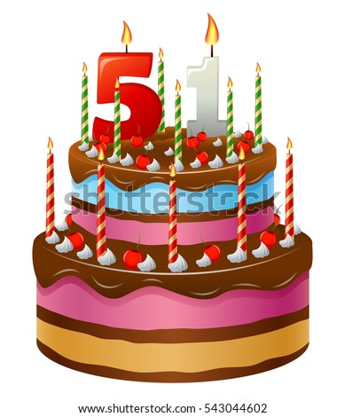 Happy Birthday Cake Stock Vector Shutterstock Jpg 389x470 51st