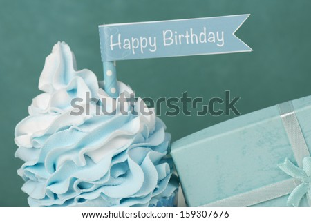 Happy Birthday card design - stock photo