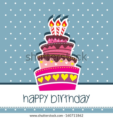 Happy Birthday Card Party with Dotted Background