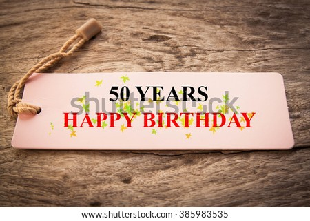 Happy Birthday Celebration Personalised Number Stock Photo
