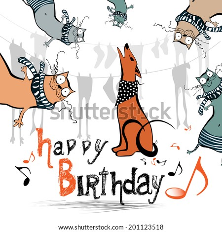Happy birthday funny kids cat dog 201123518 happy birthday funny kids cat dog voltagebd Image collections