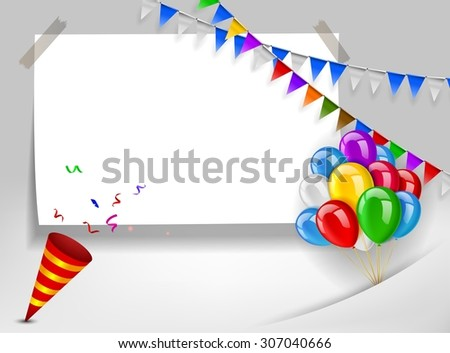 Happy birthday greeting card - stock photo