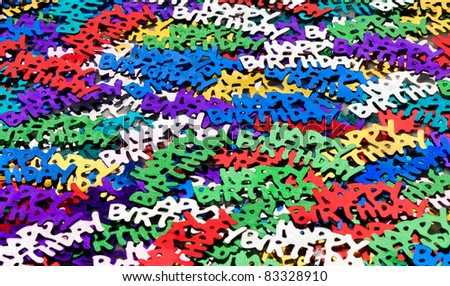 Happy Birthday letters - stock photo