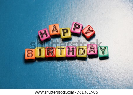 Happy birthday party card invitation 3 d stock photo royalty free happy birthday party card invitation 3d words and letters spelled in blocks and beads thecheapjerseys Choice Image