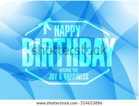 happy birthday stamp sign blue background illustration design graphic - stock photo