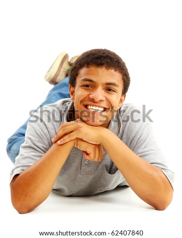 Happy Black Man - stock photo