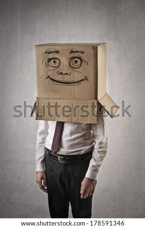happy box - stock photo