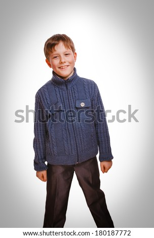 happy boy smiling cheerful childhood, carefree  current emotion isolated on white background gray