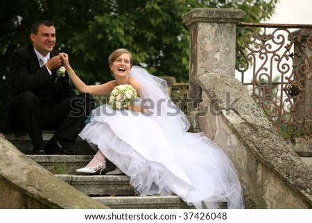happy bride,series