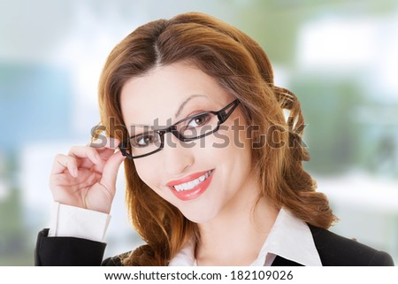 Happy businesswoman portrait