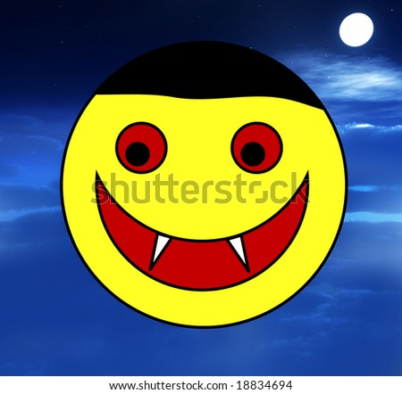 happy cartoon Vampire face for Halloween.