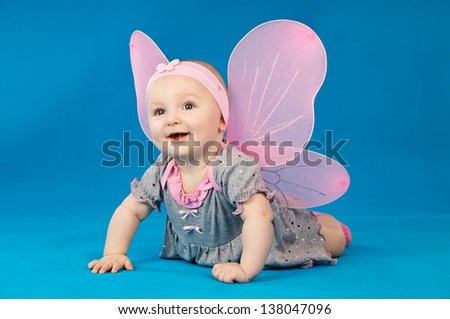 happy child with wings