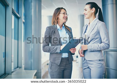 Happy colleagues - stock photo