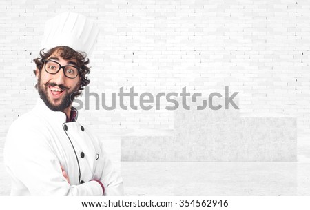 happy cook man smiling