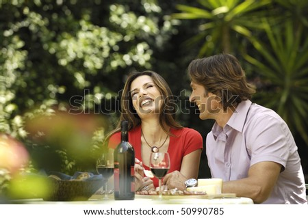 happy couple - stock photo
