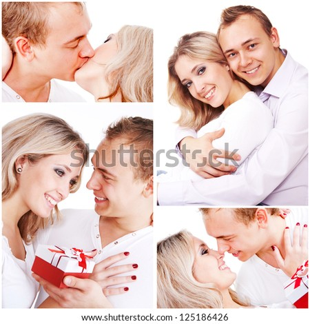Happy couple while Valentine??s day. Love concept - stock photo