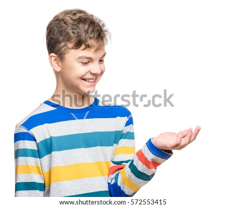 Happy Cute Child Reaching Out His Stock Photo 572553415 Shutterstock