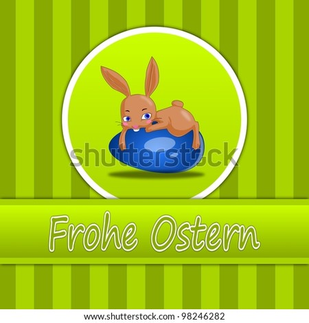 Happy Easter Card in German - stock photo