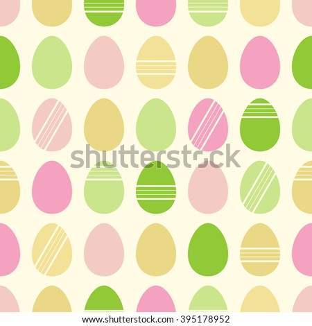 Happy Easter pattern with colored eggs, rasterized version. - stock photo