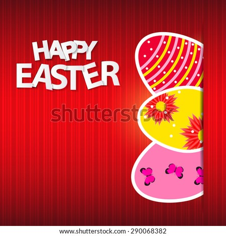 Happy Easter Spring Background  Illustration  - stock photo