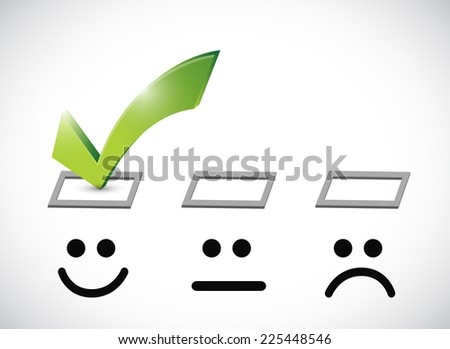 happy face selected illustration design over a white background - stock photo