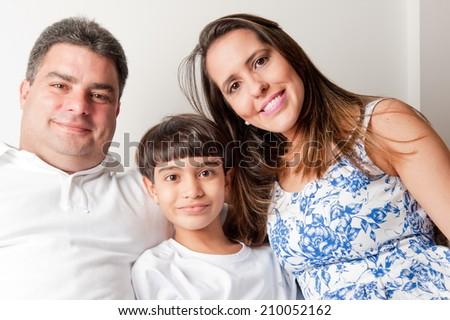 Happy Family at home . - stock photo