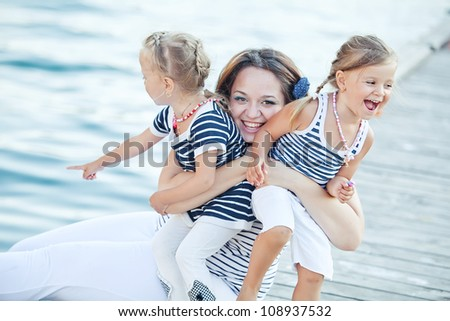 Happy Family by the Sea