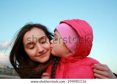 Happy family moments - stock photo