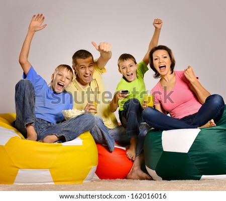 happy family spend time together - stock photo