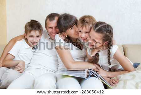 happy family spends together time