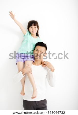 happy Father and Daughter Having Fun Together - stock photo