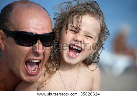 Happy father and daughter leisure - stock photo
