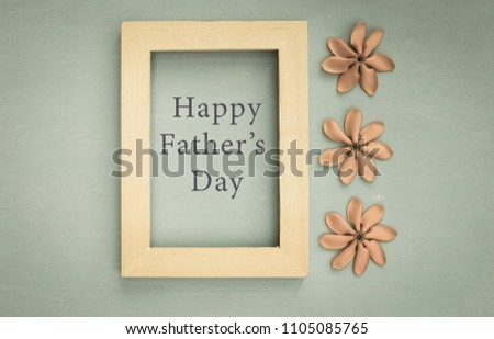 Happy Fathers Day Message Wooden Frame Stock Photo Edit Now