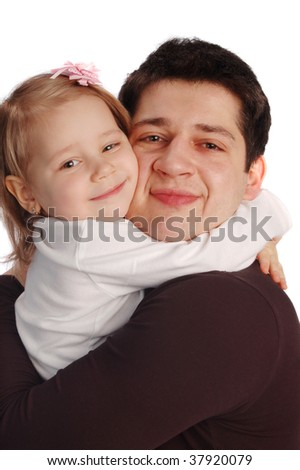 happy father with a daughter