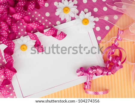 happy festive  card design background wallpaper with flowers and streamers - stock photo
