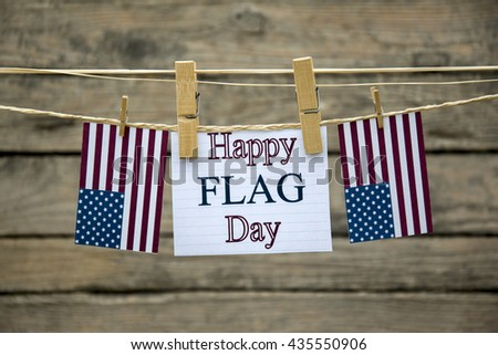 Happy flag day greeting card or background. - stock photo