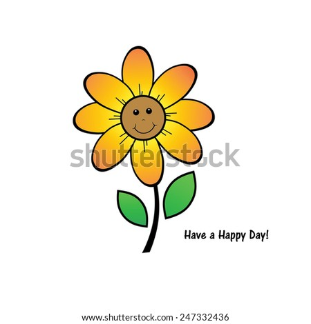 Happy Flower - stock photo