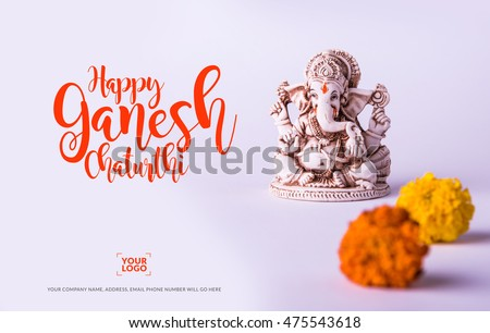 Happy ganesh chaturthi greeting card showing stock photo royalty happy ganesh chaturthi greeting card showing stock photo royalty free 475543618 shutterstock m4hsunfo