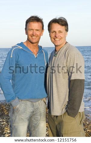 Happy gay couple. - stock photo