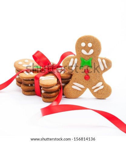 Happy Gingerbread Man - stock photo