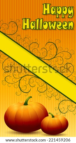 Happy Halloween Background. Raster version of the illustration.  - stock photo