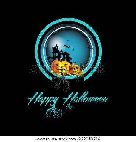 Happy Halloween design background - stock photo